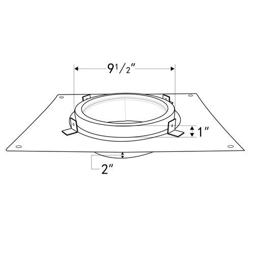 """Shasta Vent 8"""" Dia. Class A, All-Fuel """"Anchor Plate"""" for Shasta Vent 8"""" Chimney Systems"""