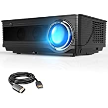 VIVIMAGE C580 4000 Lumens Movie Projector, Full HD 1080P Supported, Home Theater Projector Compatible iPhone, PC, DVD, Fire TV Stick, PS4, Xbox, HDMI Cable Included