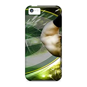 Scratch Protection Cell-phone Hard Covers For Iphone 5c (fAY10391vLCI) Provide Private Custom Attractive Green Bay Packers Pattern