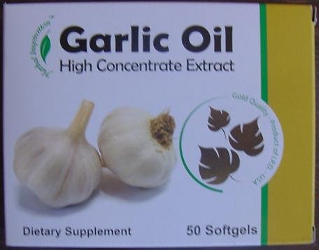 Herbal Inspiration Garlic Oil - High Concentrate Extract - Dietary Supplement - 50 Softgels