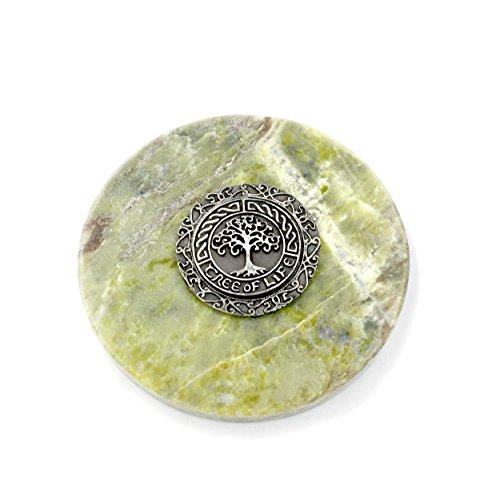 - Irish Tree of Life Medallion on Connemara Marble Paperweight