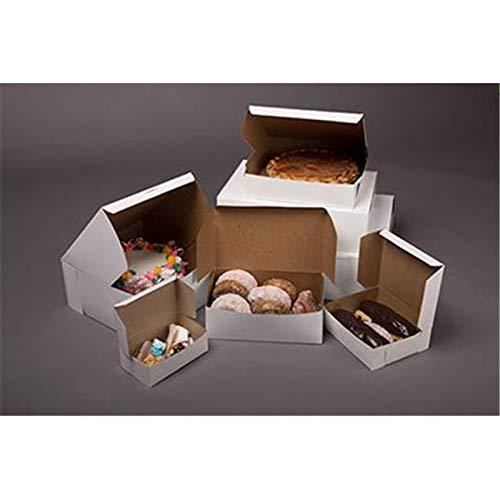 OKSLO 6121 lock corner chipboard bakery box, white - case of 100
