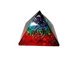 Jet International Chakra Rainbow Orgone Pyramid Booklet Therapy Gemstones