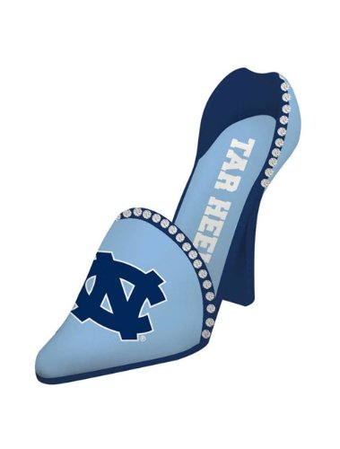 North Carolina Tar Heels Decorative Wine Bottle Holder - Shoe by Hall of Fame Memorabilia