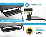 ErgoActive Extra Wide Under Desk Keyboard Tray with Clamp On Easy Installation, Fits Full Size Keyboard and Mouse, Office, Home, School, Gaming Keyboard Tray