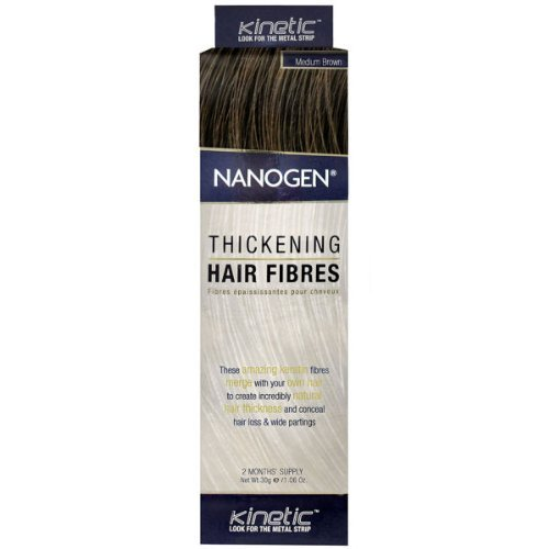 Nanogen Hair Building Fiber, Medium Brown 30 ()