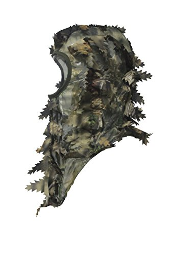North Mountain Gear Ambush HD Camouflage Hunting Full Cover Leafy 3D Face Mask (Brown, Tan)