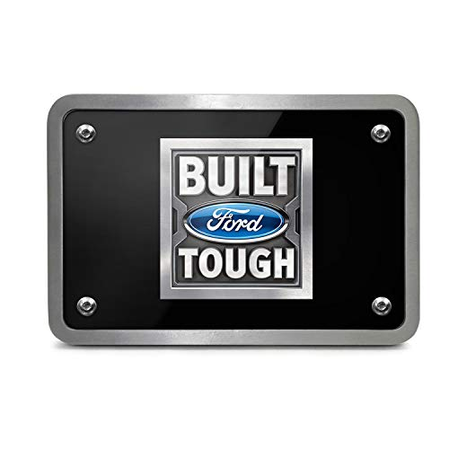 Ford Built Ford Tough UV Graphic Black Plate Billet Aluminum