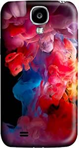 Colorful smoke Fashion Designed Pattern Protevtive 3D Hard Back Case Cover for Samsung Galaxy S4 I9500