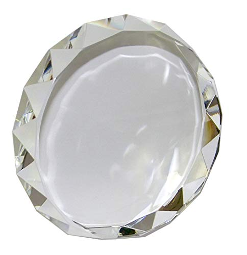 (Amlong Crystal Round Crystal Paperweight for Engraving with Gift Box )