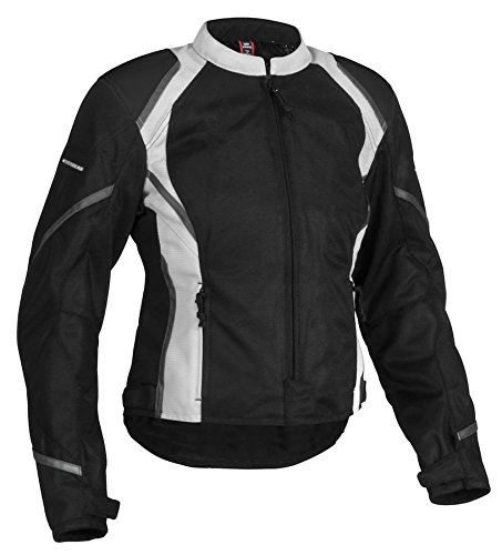 Firstgear Women's Mesh Tex Jacket - X-Large/Black/Silver