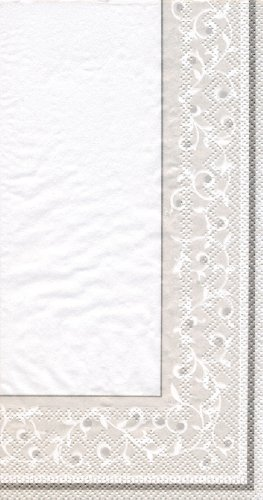 - Lenox Opal Innocence 3-Ply Paper Guest Towels, Silver, Pack of 16