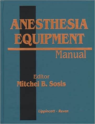 Anesthesia Equipment Book