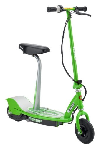 Razor E200S Electric Scooter with Removable Seat and Spring Loaded Kickstand