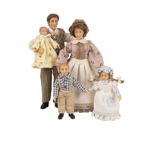 Dollhouse Miniature The Peterson Family by Aztec Imports, Inc. by Aztec Imports, Inc.