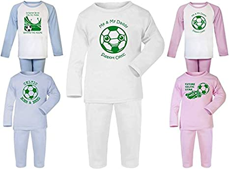 Hat-Trick Designs Celtic Football Baby Pyjamas Set PJs Nightwear//Sleepwear-Future Star-Unisex Gift