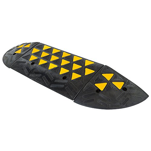 "Discount Ramps Guardian 4"" Rubber Curb Ramp with Round En..."