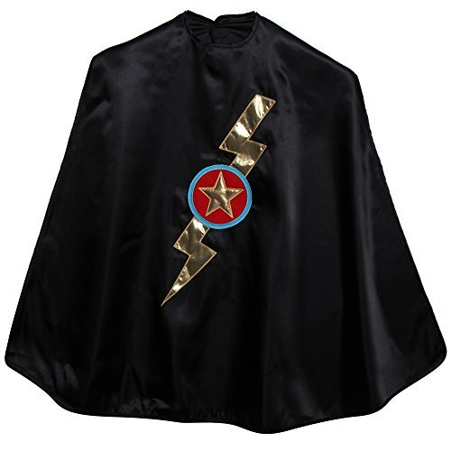 Black Shazzam Bolt Cape