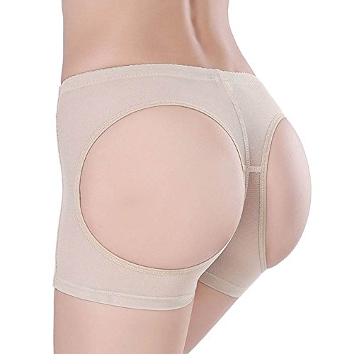 Your Supermart Lady Sexy Butt Lifter Panty Boy Shorts Enhancer Briefs Women Underwear Shaper Apricot