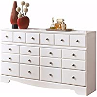 Ashley Furniture Signature Design - Weeki Dresser - 6 Drawers - Classic Contemporary - White