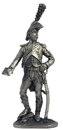 The adjutant of the general (France, 1809-1812) Tin Toy Soldiers Metal Sculpture Miniature Figure Collection 54mm (scale 1/32) (N43)