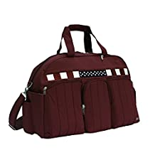 Lug Stars and Stripes Shuttle Bus Weekender Bag, Cranberry Red, One Size