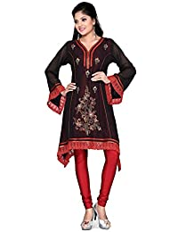 Long India Tunic Top Womens Kurti Hand Sewn Beaded Blouse Indian Clothing