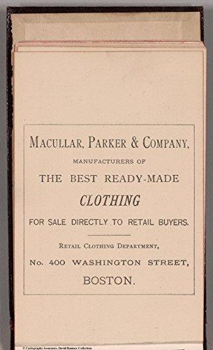 Map Poster - Text Page: Macullar, Parker & Company, No. 400 Washington Street, Boston 11