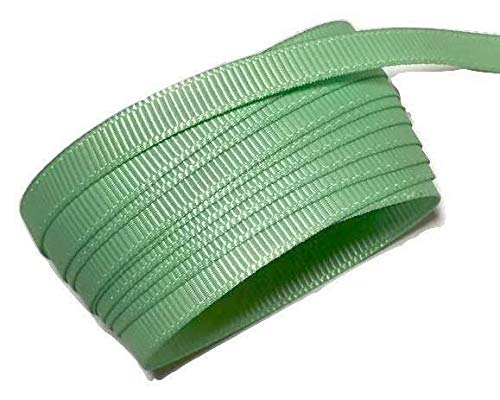 10 Yards Mint Green 1/4'' Grosgrain Ribbon by The Yard DIY Hair Bows KD-3977