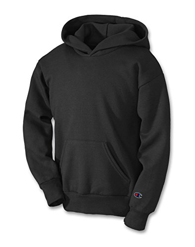 - Champion Double Dry Youth Action Fleece Pullover Hood Black