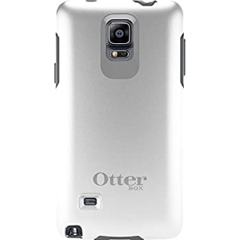 OtterBox Samsung Galaxy Note 4 Case Symmetry Series - Retail Packaging - Glacier (White/Gunmetal Grey)