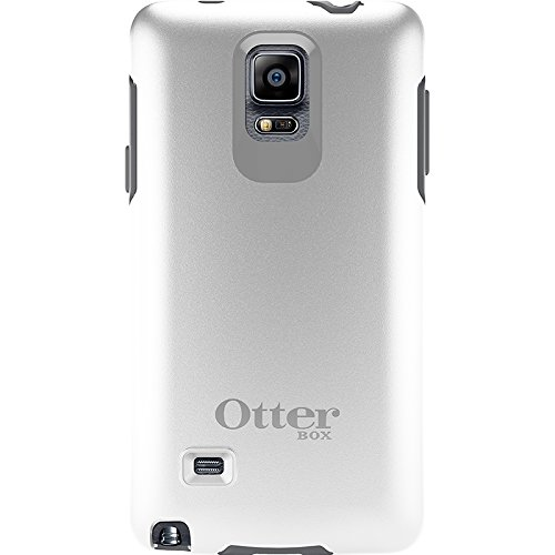 Price comparison product image OtterBox Samsung Galaxy Note 4 Case Symmetry Series - Retail Packaging - Glacier (White/Gunmetal Grey)