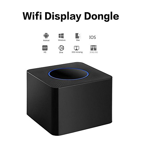 Wireless Wifi Display Dongle - Teepao Dual-band 5G & 2.4G Wireless Screen Mirroring Adapter Receiver, Support DLNA Airplay Miracast for Android / IOS / Windows/Macbook