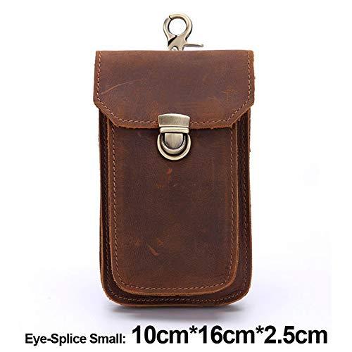 Telefono Vintage Passanti S Per Cintura Uomo Bag Piccola Cellulare Brown splice Eye Da Poucn Viaggio Confezione Comoda Portafoglio Corta Borsa 7dPHwqx7R