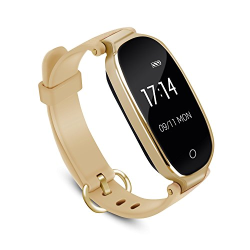 AGPTEK Lady Fitness Tracker,Smartwatch Activity Tracker Heart Rate Monitor Smart Bracelet Waterproof IP67, Bluetooth Pedometer Wristband Control Music,Sleep Monitor Android&iOS,...
