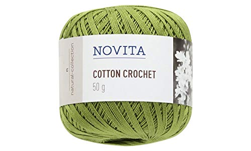 Novita Cotton Crochet knitting thread 50g Green (2 pieces)