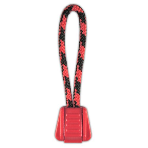 PARACORD PLANET Zipper Pulls Combinations - Choose from 5, 10 and 20 Pack Sizes (Black Widow/Red, 20 Pack)