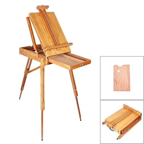 gzyf-french-easel-wooden-sketch-box-portable-folding-durable-artist-painters-tripod