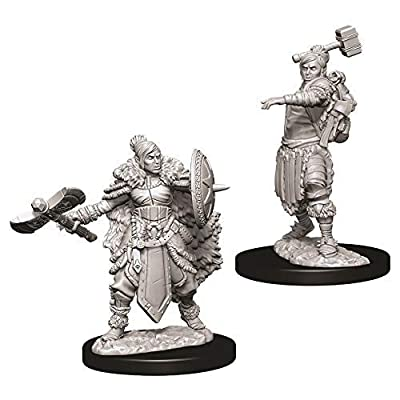 Dungeons & Dragons Nolzur`s Marvelous Unpainted Miniatures: W9 Female Half-Orc Barbarian: Toys & Games