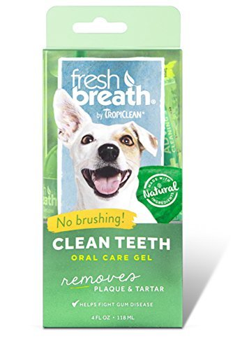 Tropiclean Fresh Breath Plaque Remover Pet Clean Teeth Gel 4oz Pack of two (8 oz total) by Tropiclean