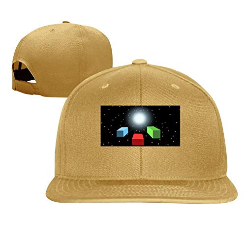 Starry Tunnels in The Sky Trendy Men and Women General Truck Drivers Hip-Hop Baseball Caps Yellow