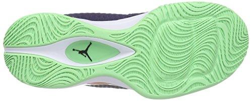 Nike Jordan Mens Jordan Super.fly 3 Po Inchiostro / Brillante Mandarino / Blk / Bianco Scarpa Da Basket 11 Uomini Noi