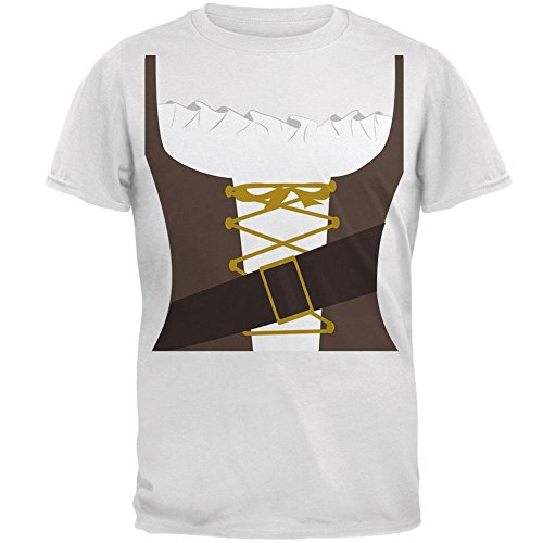 Old Glory Halloween Tavern Maiden Costume Brown Mens T Shirt White MD ()