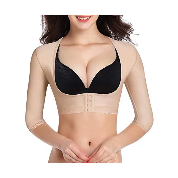 afdd6d2a8 BRABIC Upper Arm Shaper Post Surgical Slimmer Compression Sleeves Humpback Posture  Corrector Tops Shapewear for Women