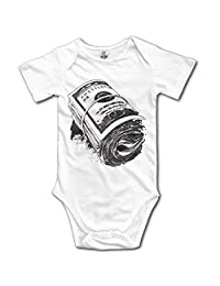 CHYY Newborn's Hipster Hip Hop Roll Of Money Organic Baby Onesie Bodysuit