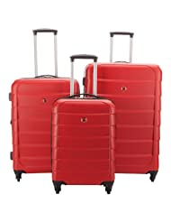 Swiss Gear Peregrinate 3-Piece Hard Side Expandable Luggage Set - Red