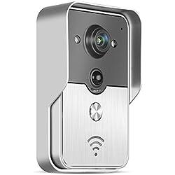PowerLead Pdor D012 Doorbell Wifi Video Door Phone Doorbell Wireless Intercom Enabled Video Doorbell