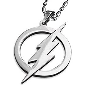 HmgSea Stainless Steel Jewelry Justice League Superman the Flash Man Pendant Necklace Silver