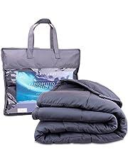 Polar Night Verzwaringsdeken voor volwassenen - Zware deken met glasparels, Microvezel, Oeko-TEX® 100 standaard - Ademend, hypoallergeen, incl. omslaglussen - 150 x 200 cm, 5-13kg (9)
