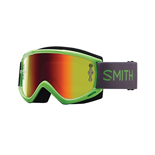 Smith Optics Fuel V.1 Max M Adult Off-Road Motorcycle Goggles Eyewear - Reactor/Red / One Size Fits All (Smith Goggles Fuel Goggle)